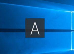 画面中央に出る「A」